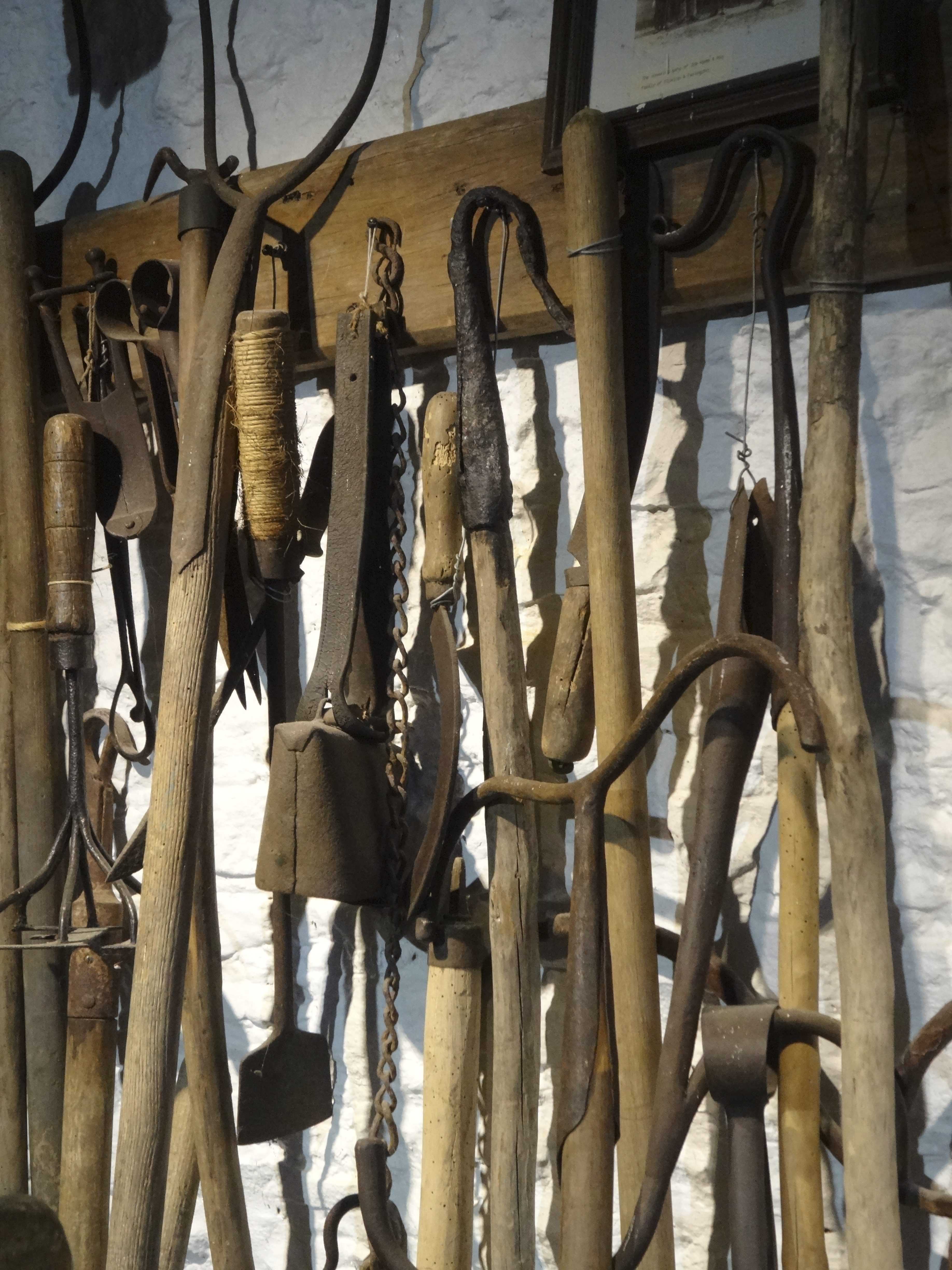 Vintage farming and shepherding tools, Cotswold Woollen Weavers