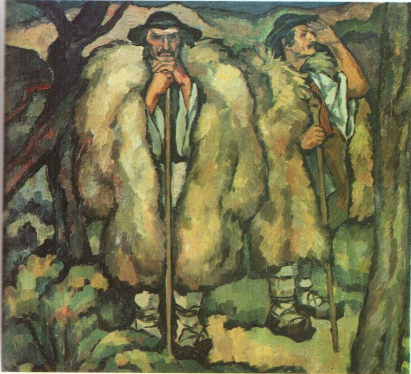 Mocani (shepherds) - painting by Ion Theodorescu-Sion (1882–1939) - photo found on Wiki Commons and now in the public domain
